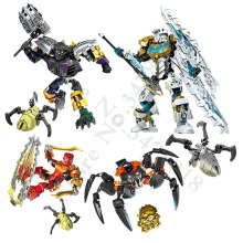 BionicleMask of Light Children&s Kopaka Master Of ICE Bionicle Building Block Compatible with 70788 Toys