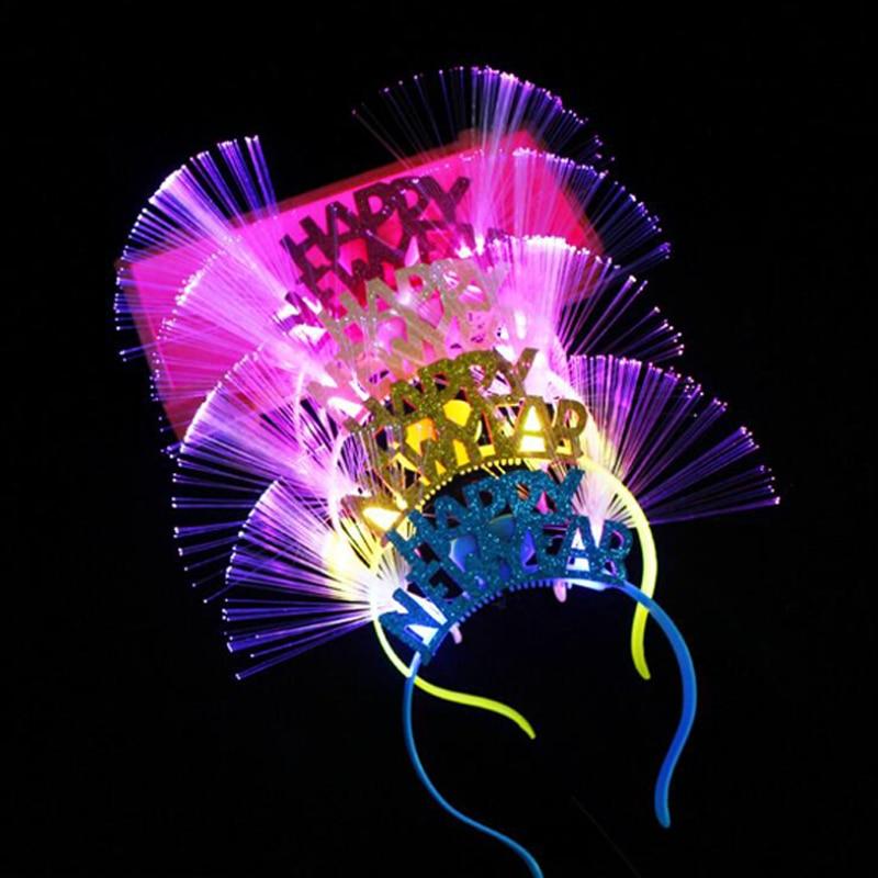 Happy New Year Light Up Hair Accessories Led Headband Kids ...