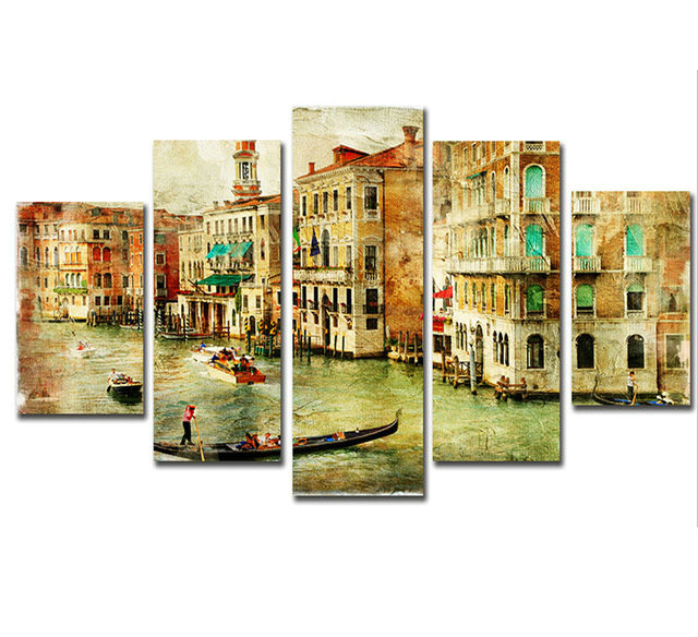 5 pz Fai Da Te Diamante Pittura città di Venezia Pieno Trapano piazza Mosaico Ricamo A Punto Croce 5d Diamante Ricamo scenery modello