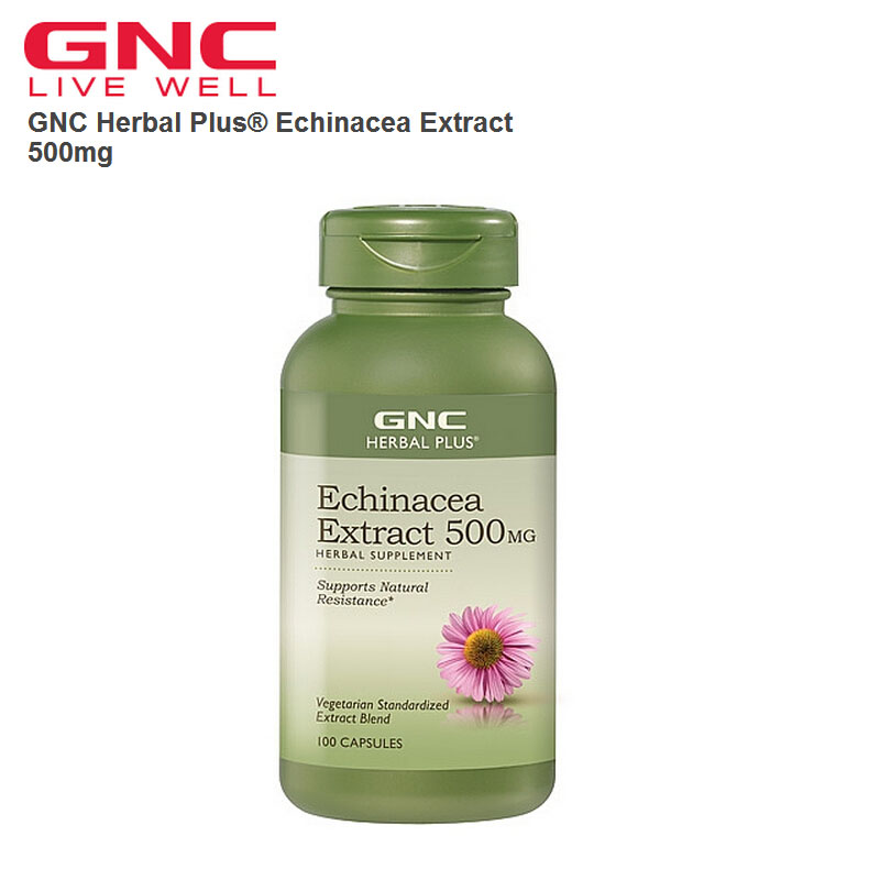 Free shipping Herbal Plus  Echinacea Extract 500mg 100 Capsules dong quai 530 mg traditional herb for women 100 capsules free shipping