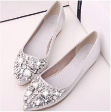 Fashion sexy women pointed shoes flat shoes new spring and summer tidal water diamond shoes, shallow mouth elegant shoes