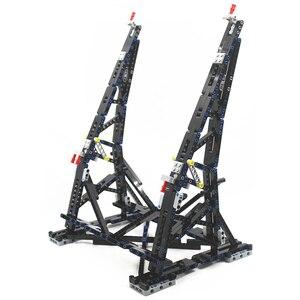 Image 2 - Preto moc millennium brinquedos falcon vertical expositor compatível com no.05132 e no.75192 modelo de coletor final