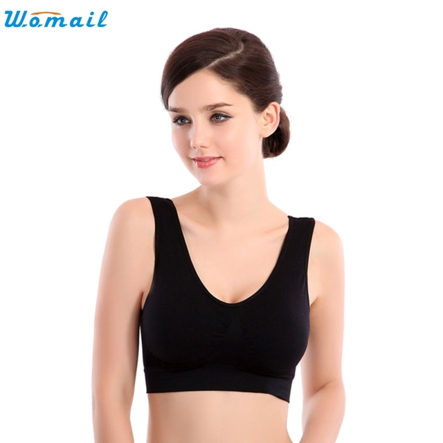 9e8fac7750 Girls Women Adjustable Straps Thin No Mat Athletic Fitness Bra Stretch  brassiere Push Up Yoga Bra