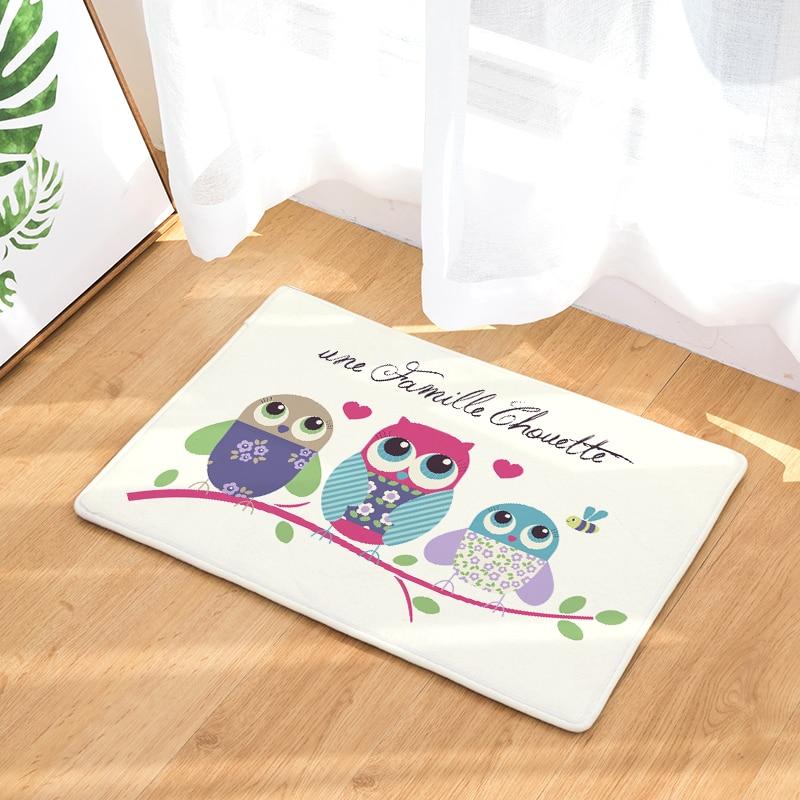 Online Hot Welcome Mat Owl Doormats Bathroom Kitchen Carpets Home Floor Mats Living Room Anti Slip Rug 40x60 50x80cm Aliexpress Mobile