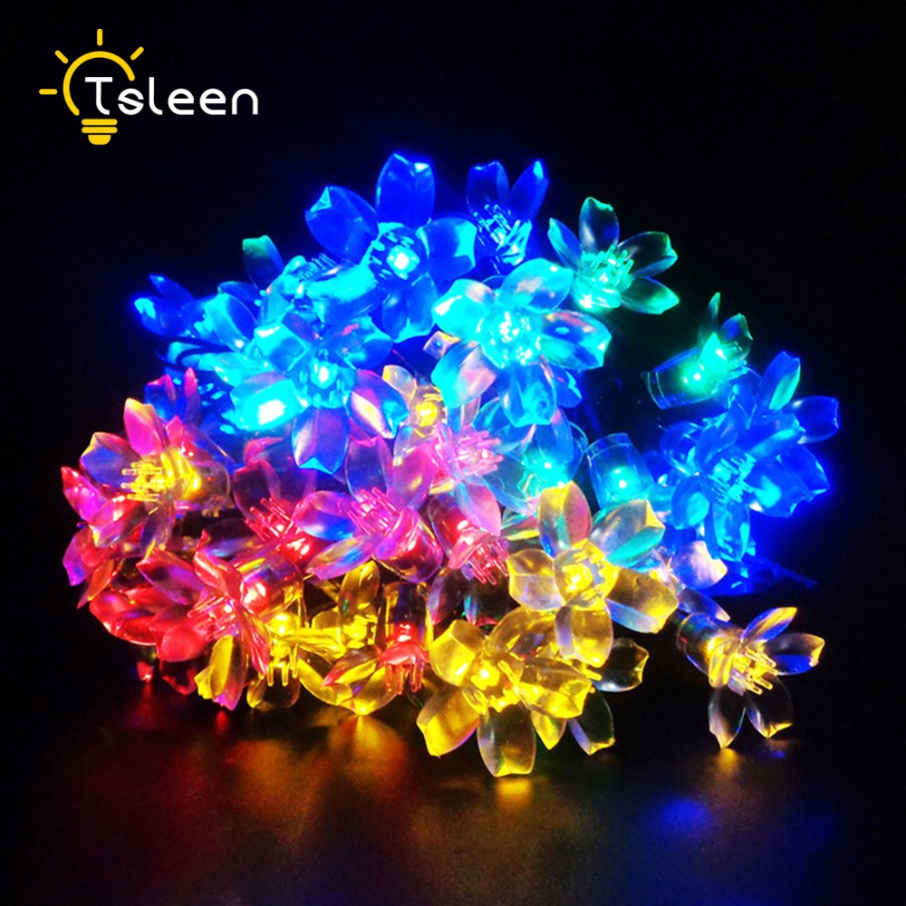 Solar christmas decorations - Tsleen Lumiere Home Solar Powered Led 7m Flashing Ball String Lights Outside Garden Dance Party Holiday Xmas New Decorations