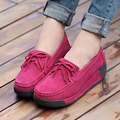 Size 35-40 # 6 Colors Women Fashion Autumn Shoes Short Heel Platform Girl Casual Shoes Leather Women Tassel Bowtie Shoes ML2636