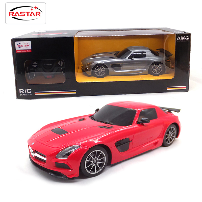 Licensed 1:18 Lit Light RC Car Remote Control Toys Machines On The Radio Controlled Toys For Children Boys Gifts SlS AMG 54100 radio controlled toys