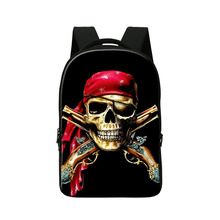 Skull printing cool laptop backpacks for college students personalized back pack school bookbags for young men
