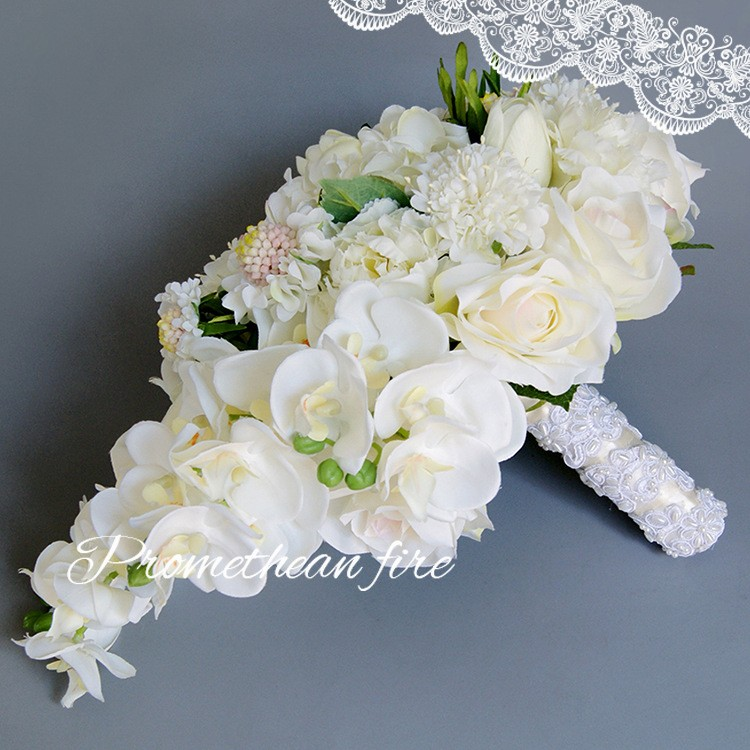 Bridesmaid flower wedding accessories bridal bouquets artificial bruidsboeket fleurs bouquet mariage 11