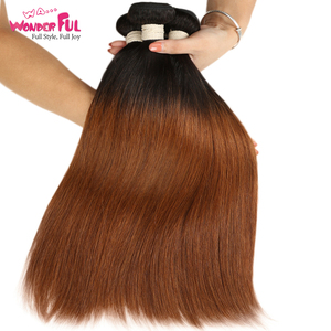 Brown Peruvian Omber Hair Straight T1B/30 100% Human Hair 10 To 22 Inch cheap human hair bundles Free Fast Shipping