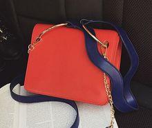 2  strap hit color buckle chain bag, ladies cute multi-color portable shoulder diagonal bag,women girl crossbody bags