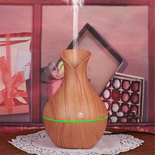лучшая цена 130ml Air Humidifier Essential Oil Diffuser Aroma Lamp Aromatherapy Electric Aroma Diffuser Mist Maker for Home-Wood Living room