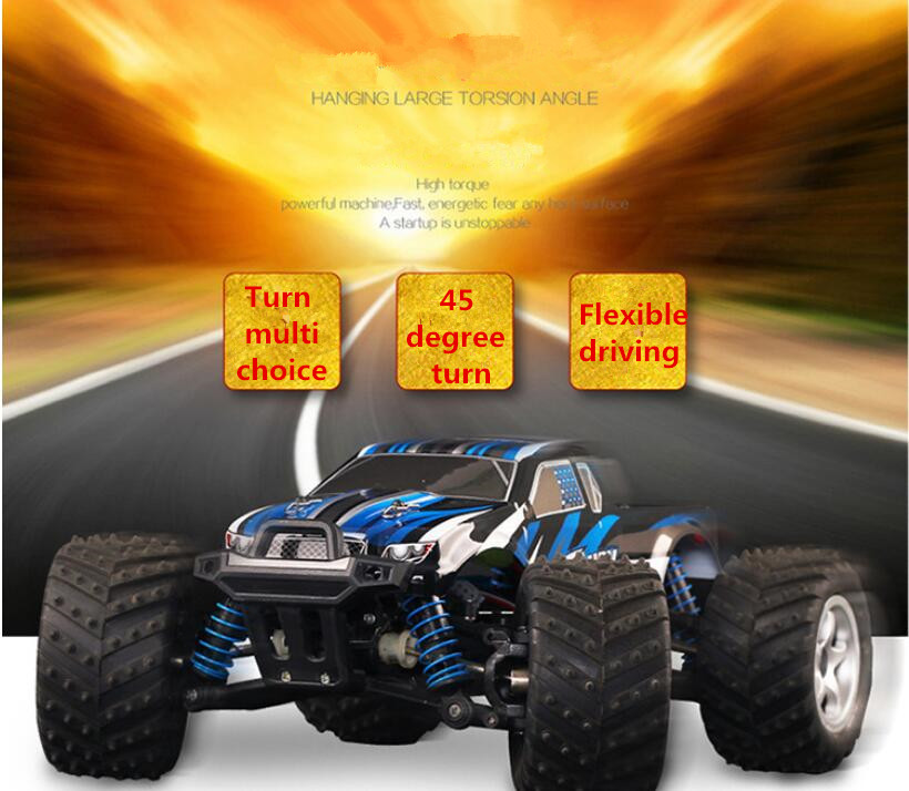 Middle size 24cm 40-50KM/H Electric High Speed Remote control rc toy car 9300 2.4G 1:18 4WD drive Off-Road RC Truck vs 9116 A959