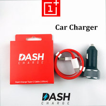 Original Oneplus 6T dash Car charger One Plus 6 5t 5 3t 3 smartphone Fast charge 100cm red Round usb 3.1 type C Cable