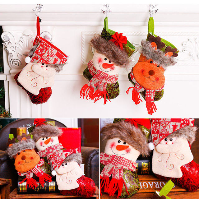 Us 2 22 Newest Happy Personalised Luxury Embroidered Xmas Stocking Sack 3d Santa Deluxe Christmas Bags On Aliexpress Com Alibaba Group