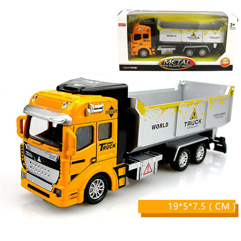 купить Diecast excavator truck model boys toy 1/48 alloy loader dumper Engineering vehicles car model toys for children kids gifts new по цене 639.68 рублей