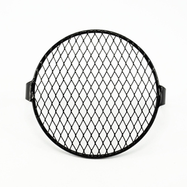 plating Motorcycle 7 Headlight Mesh Grill Side Mount Universal Cover Mask for Cafe Racer