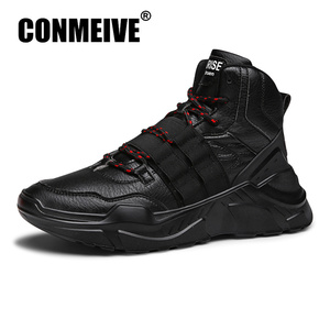 Image 1 - Fashion Breathable Designer Male Adult Sneakers Winter Casual Mens Shoes Lace up Man Trainers Brand Luxury Hot Sale Shoes Men