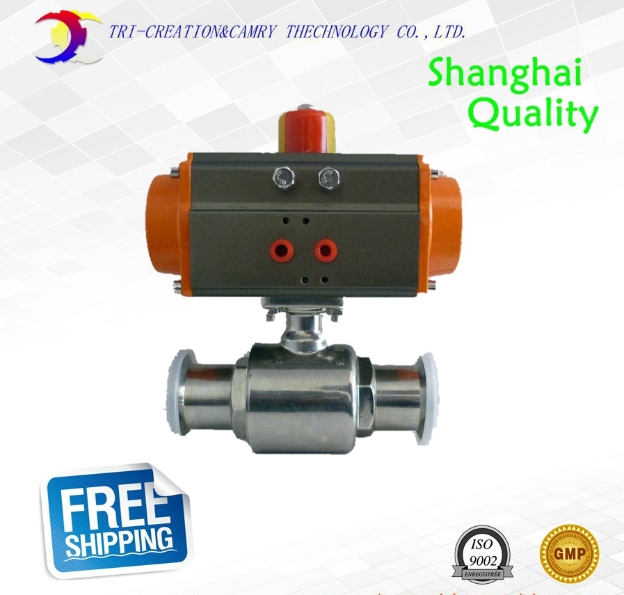 stainless valve,5/4 DN25 2 way 304,food grade valve,double acting straight valve 2 sanitary stainless steel ball valve 2 way 304 quick installed food grade pneumatic valve double acting straight way valve