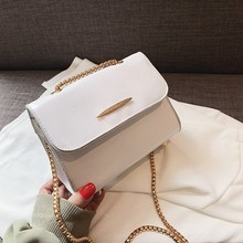 2019 Flap Bags High Quality Women Leather Messenger Bags Sac A Main Chains Leather Shoulder Bag Candy Color Crossbody Bag New go meetting genuine leather women shoulder bags candy color high quality cowhide crossbody bags bucket ladies messenger bag