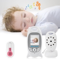 babykam radio nanny baby monitor vb601 2.0 inch LCD IR Night Vision Temperature Sensor 8 Lullabies Intercom video nanny wireless