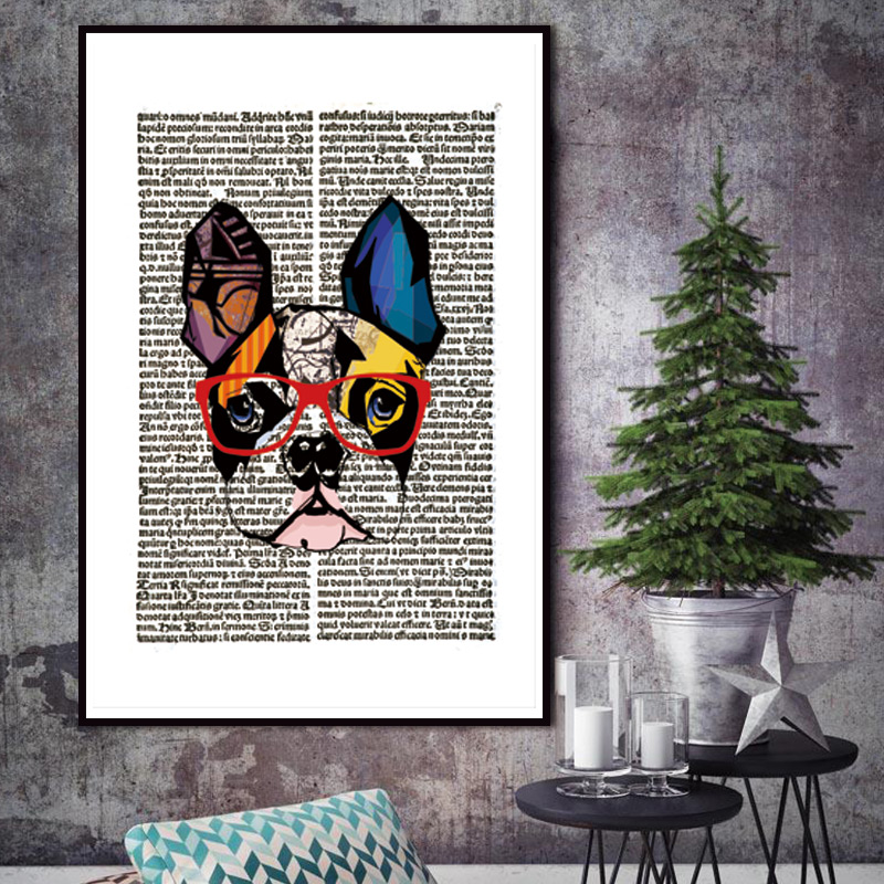 Nordic animal gentleman cat newspaper vintage dictionary for Newspaper canvas art