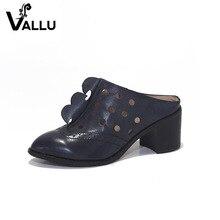 Кожа коровы Босоножки обувь для женщин 2017 г. женские туфли-лодочки из натуральной кожи квадратный каблук с острым носком женские высокий каблук
