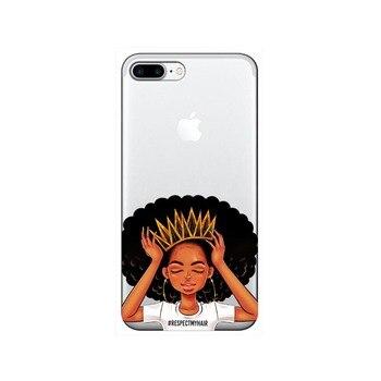 NOUADHIBOU Mélanine Poppin Aba dur en plastique Cas de Téléphone pour iPhone X 6 7 8 plus 5 5S se 6 s XR XS Max Mode Noir Cover Girl 1