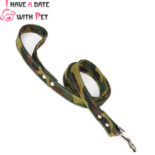 (1 piece)(I have a date with pet) L#2.5cm*120cm  Canvas Material Big dog Strong Camouflage Pet Dog Leashes Leash Lead