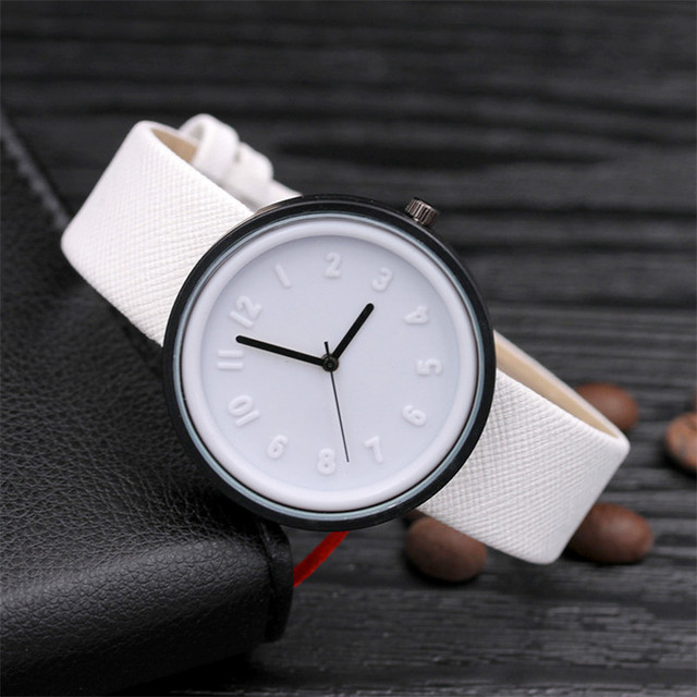 Candy color Unisex Simple Number watches women japanese fashion luxury watch Qua