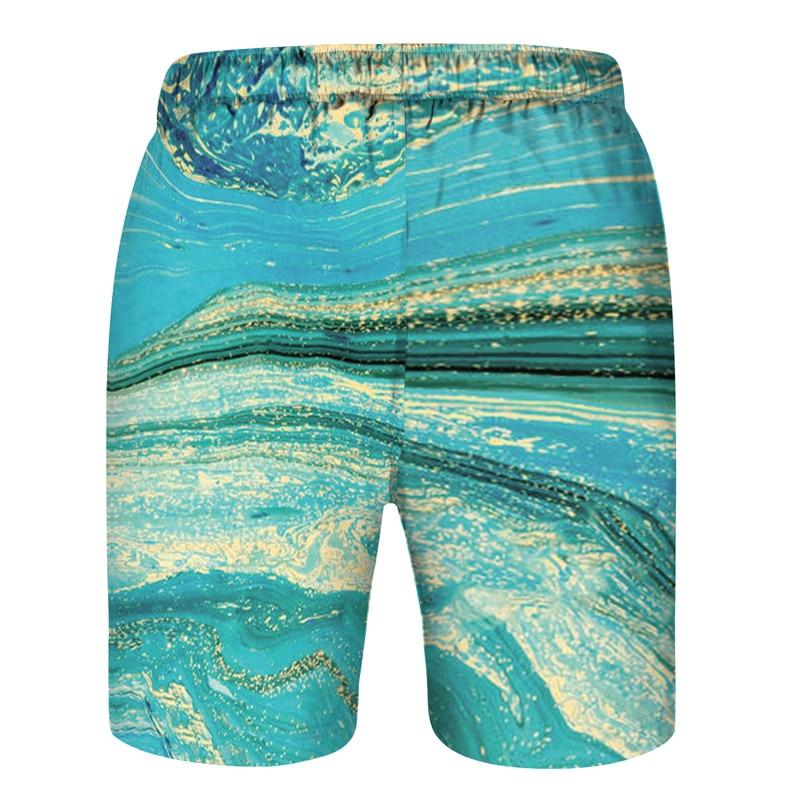 Crescent Moon Stars Boho Mens Sports Shorts Summer Fashion Casual Swim Short