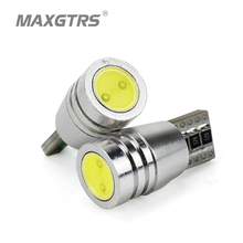 2Pcs/Lot 2017 New Super Bright White Shell T10 Canbus COB Can-bus No OBC Error 194 W5W Led Car Instrument Side Lights(China)