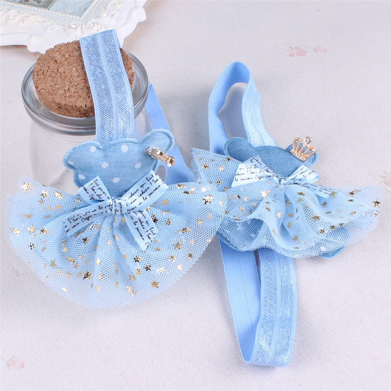Children hair band baby headband shiny star network yarn hair ornaments camera to sell sprouts hand wholesale