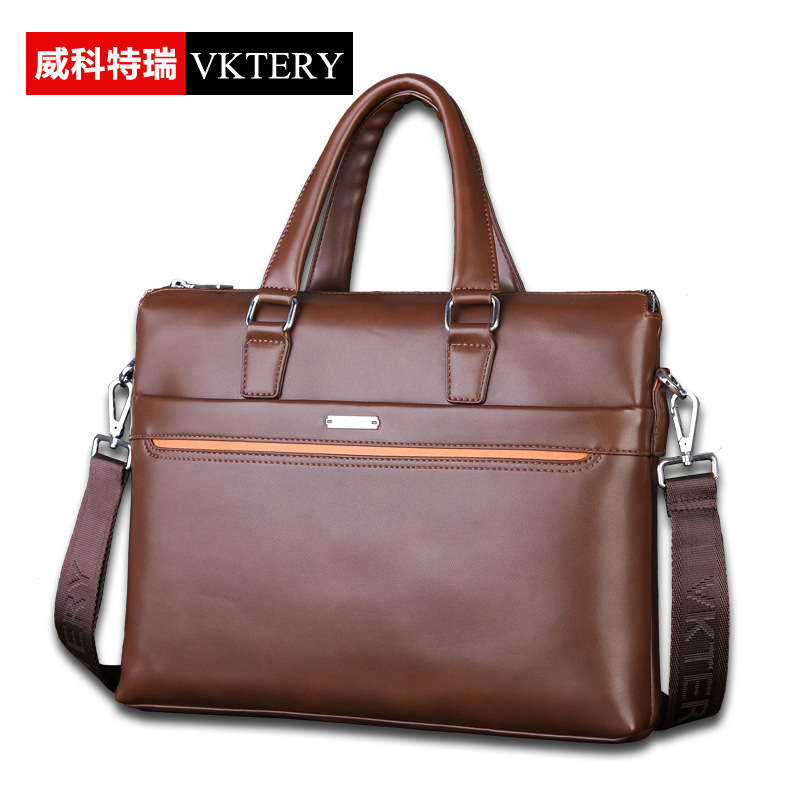 VKTERY Men Brand PU Leather Business Briefcase Fashion Handbag Messenger Bag Big Capacity Shoulder Bag Crossbody Bag 2016 New