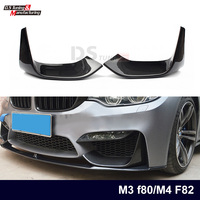 1 Pair M3 F80 M4 F82 Front Bumper Spoiler Carbon Fiber Splitter for BMW 3 Series M3 F80 4 Series M4 F82 Car Styling 2012 IN
