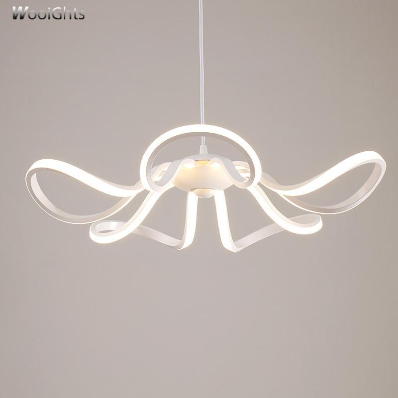 все цены на Wooights DIY Hanging Modern Led Pendant Lights For Dining Room Bar suspension luminaire suspendu Pendant Lamp Lighting Fixture