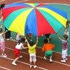 2-6M di Diametro di Campeggio Esterna Arcobaleno Giocattolo Ombrello Paracadute-Sacco Ballute Gioca Interattiva Lavoro di Squadra del Gioco del Giocattolo per I Bambini il Regalo