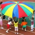 Радужный зонт для кемпинга, диаметр 2-6 м, Парашютная игрушка, для прыжков с мячом, интерактивная игра для команды, игрушка для детей в подарок