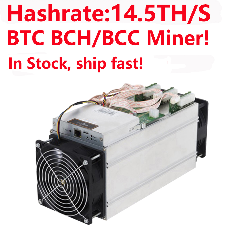 В наличии, быстрая доставка! Майнер BTC BCH/BCC! Биткоин Майнер Bitmain Antminer, Майнер для биткоинов, 14,5/с, асик Майнер, 16nm Btc Майнер
