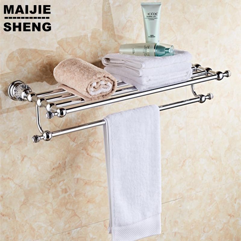 Crystal Chrome Bathroom Towel Rack Bathroom Bathroom Shelf Towel Holder Holder Double Towel