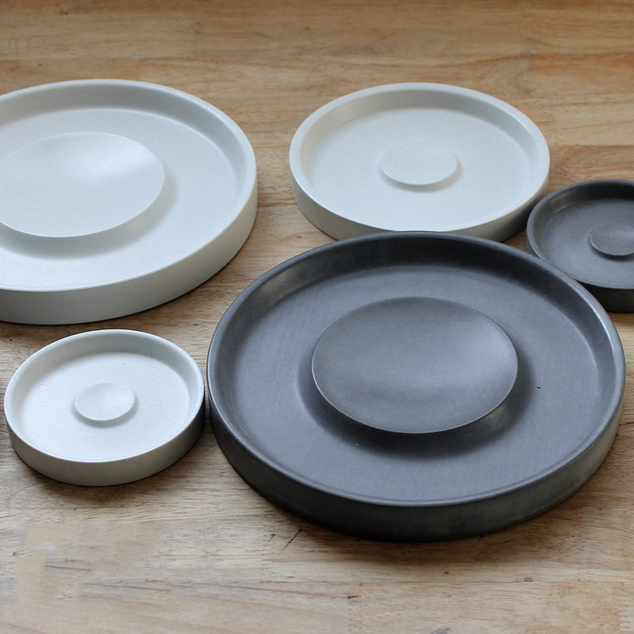 Concrete art tray mold jewelry disc fruit plate disc cosmetics Hotel soft outfit Decoration Exhibition silicone mold