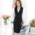 Colete Formal senhora do escritório uniforme feminino mulheres de longo colete de Negócios casaco navy preto vermelho azul roxo sem mangas breasted dobro
