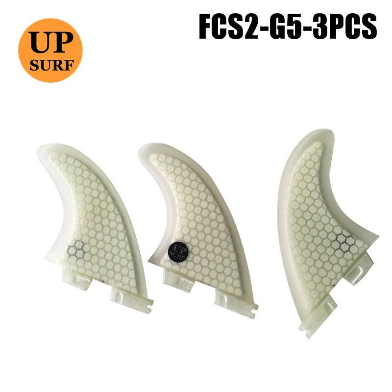 FCS2 Fins G5 Fin White/Red/Blue Color FCS II Fins Fiberglass Honeycomb  Surfboard Fin In Surfing