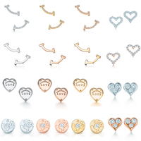 DERMSPE 100% 925 Sterling Silver Circle Earring Fit DIY Original Jewelry Mini Smile Earrings Clear CZ Birthday Gift