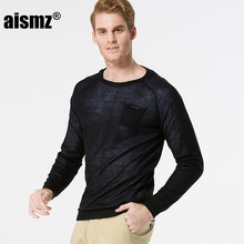 Aismz 2017 New Fashion Thin Autumn Men Pullovers Sweater Double Inside Long Sleeve Sweater Brand Men's Clothing  AZ0006