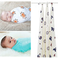 "2016 Special Offer Sale Print 0-3 Months 100% Eco-friendly Organic Bamboo Softest Muslin Swaddle Blankets Baby Blankets47""x47"""