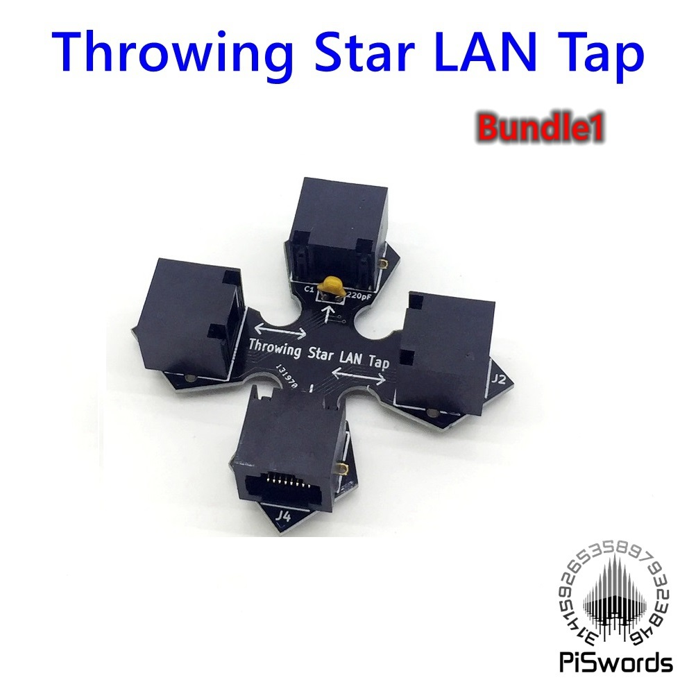Throwing Star LAN Tap Network Packet Capture Mod Ethernet Monitoring Device