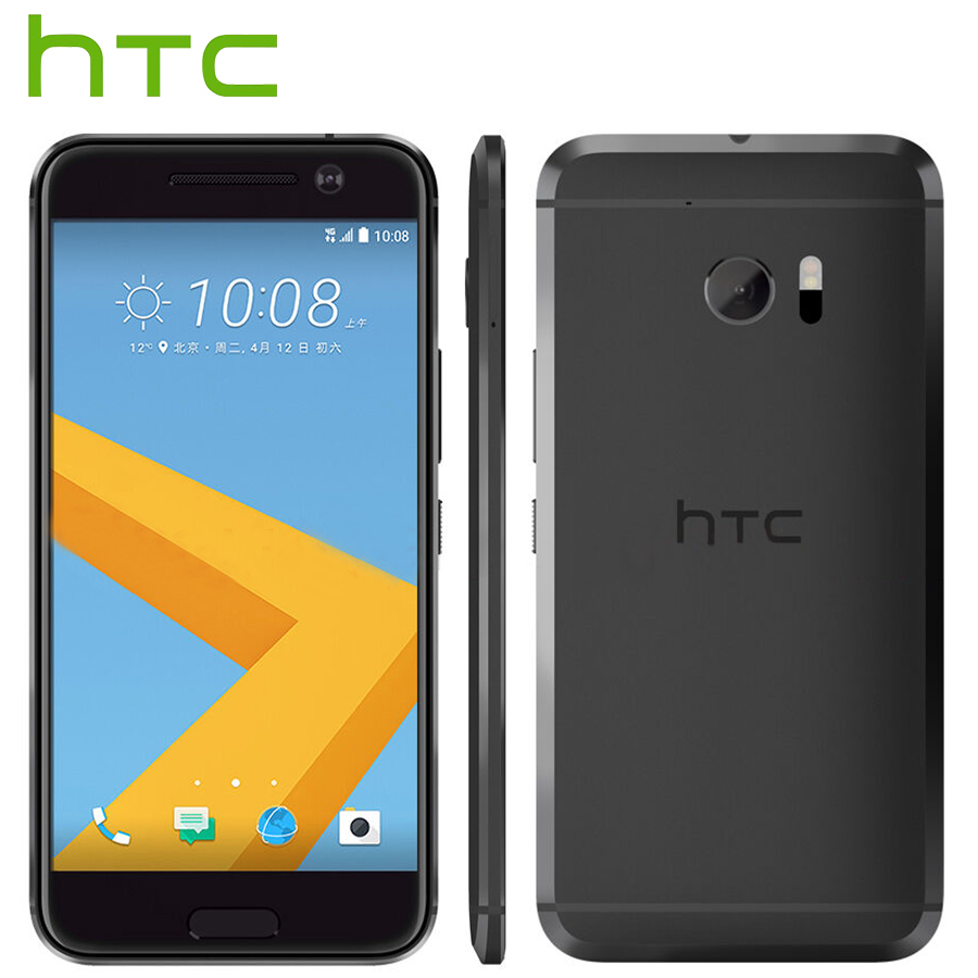 L'UE Version HTC 10 4g LTE Mobile Téléphone 5.2 4 gb RAM 32 gb ROM Snapdragon Quad Core 12MP Caméra NFC D'empreintes Digitales Android Téléphone Intelligent