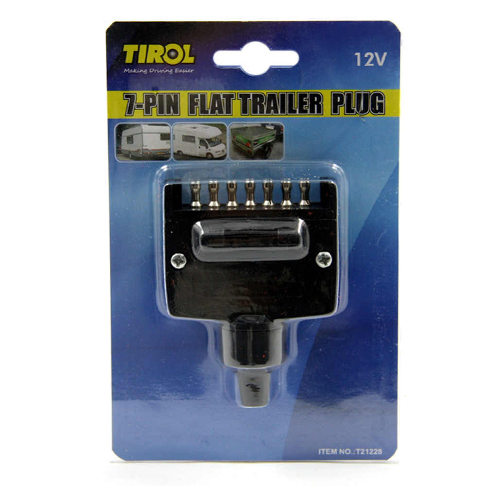 Tirol T21228a New 7 Pin Flat Trailer Plug Light Connector