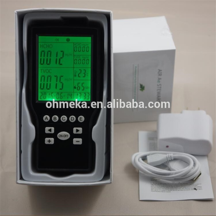Free shipping China  wholesale Handheld indoor air quality monitor Formaldehyde Monitor TVOC detector Temperature RH Humidity 0 2000ppm range wall mount indoor air quality temperature rh carbon dioxide co2 monitor digital meter sensor controller
